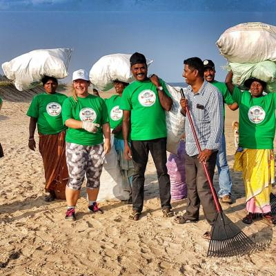 Beach cleaners in India